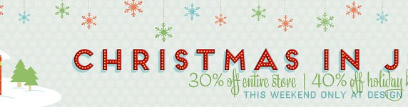 Christmas In July Weekend Sale at DHD