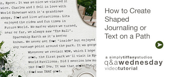 How to Create Shaped Journaling on a Text Path