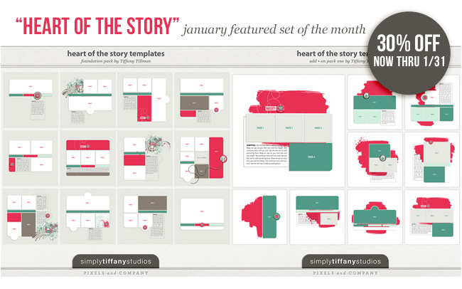 Heart of the Story | January Featured Set by Simply Tiffany