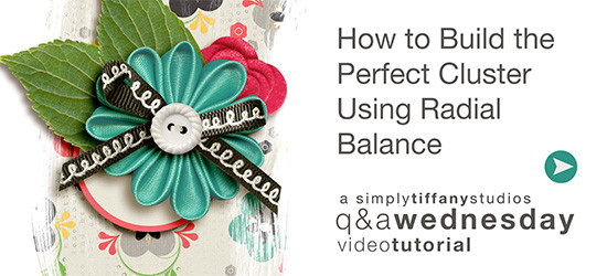 How to Build an Embellishment Cluster Using Radial Balance