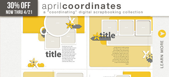 April Coordinates Templates by Simply Tiffany Studios