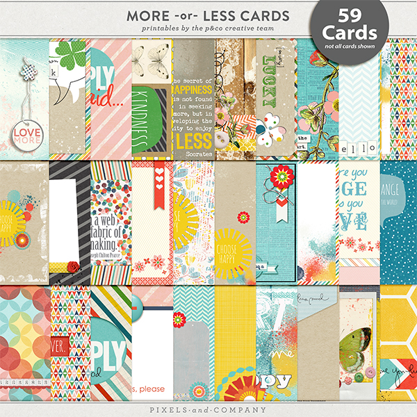 More or Less Journaling Cards Blog Hop