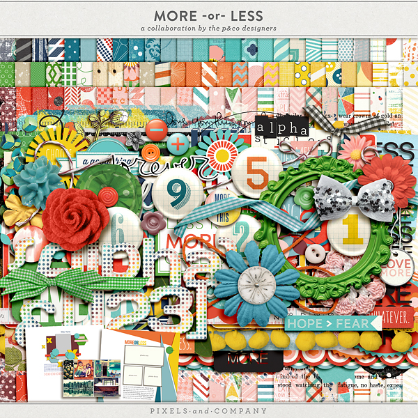 More or Less Mega Kit by Pixels & Company