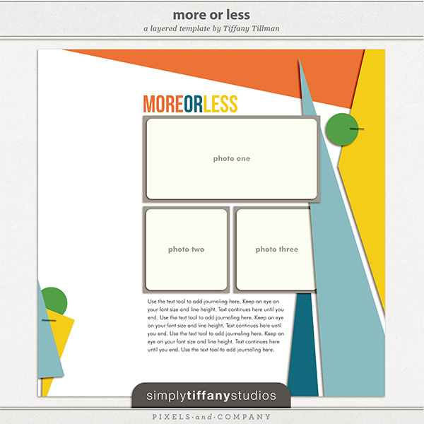 More or Less FREE iNSD Digital Scrapbook Template by Simply Tiffany