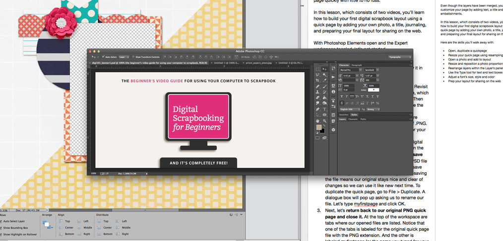 The Anatomy of a (Digital Scrapbooking) Online Class
